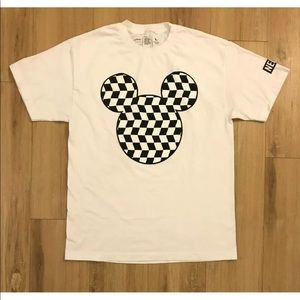 Neff Disney T-Shirt Mickey Mouse Checkerboard Lrg